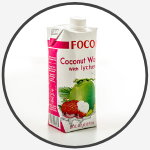 coconut water and lychee